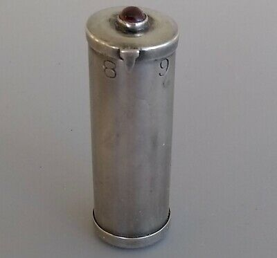 Antique Sterling Silver Mitrailleuse Needle Case Dial Cabochon Gemstone