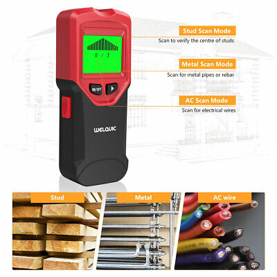 3in1 LCD Stud Wood Wall Center Finder Scanner Metal AC Live Wire Detector New