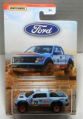 Matchbox 2019 Ford Truck Series Gulf '10 Ford F-150 Svt Raptor Mint On Card