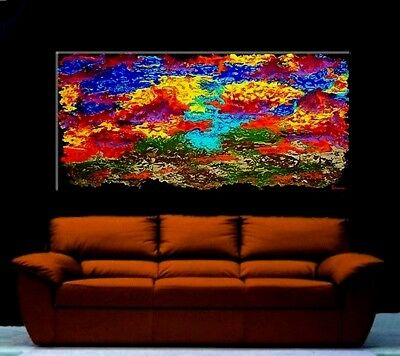 "Large 48"" Original Abstract Oil Painting Art Home Canvas New Modern Contemporary"