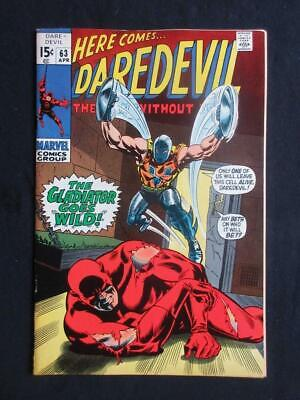 Daredevil #63 MARVEL 1970 - NEAR MINT 9.6 NM - Gladiator app!