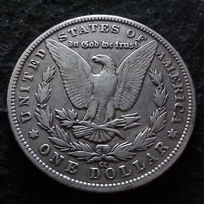 1883-CC Morgan Silver Dollar - Choice Fine F+ details from the Carson City Mint