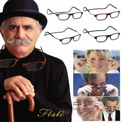New Magnetic Folding Adjustable Readers Reading Glasses Connect Neck Hang Unisex