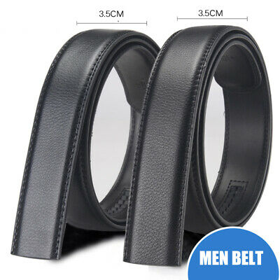 3.5CM Men's Luxury Leather Belt Fit Automatic Buckle Waistband Strap Waist 130CM