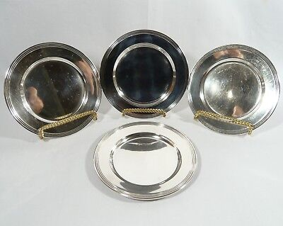 "4 Sterling SILVER 6""  Side Plates USA Silversmiths G.H. FRENCH  326 Gr."