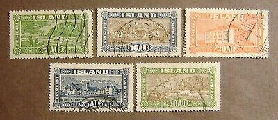 Iceland #144-148 Used F-VF Complete