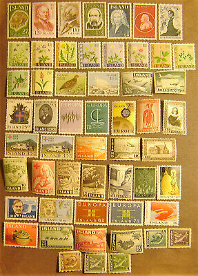 Iceland 54 Different Mint Never Hinged F-VF