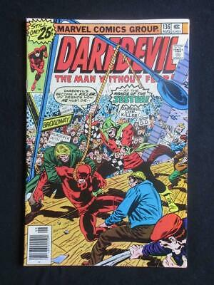 Daredevil #136 MARVEL 1976 - HIGH GRADE - Avengers, Iron Man, Stan Lee!