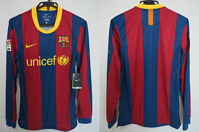 778592cd7 2010-2011 FC Barcelona Barca Jersey Shirt Camiseta Home unicef Nike L S S  BNWT