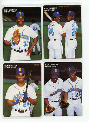 256eb353cd KEN GRIFFEY JR./SR. 1991 Mother's Cookies Father and Son Uncut Sheet ...