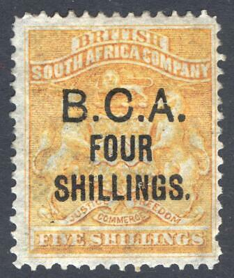 Nyasaland BCA 1892 4s on 5s Yellow SG 19 Scott 19 MM/MH Cat £100($130)