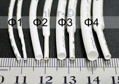 Φ0.6~80mm Blanc 2:1 Gaine Thermorétractable Câble Wire Heat Shrink Tube Sleeve