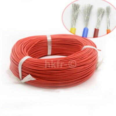 Rouge Flexible Silicone Fil de Cable Copper Tinned 0.08mm 2/4/6/7/8/10/12~30AWG