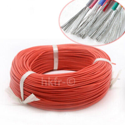 Rouge Flexible Silicone Fil de Cable Copper Tinned UL3239 16/18/20/22/24~30AWG