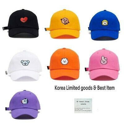 BTS BT21 Ball Cap Hat 8 Characters Free Size Official K-Pop Authentic + Free TR