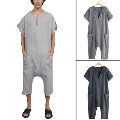 f2e8fda9b99 Mens Short Sleeve Pant One-Piece Suits Jumpsuit Playsuits Romper Overalls  Shorts