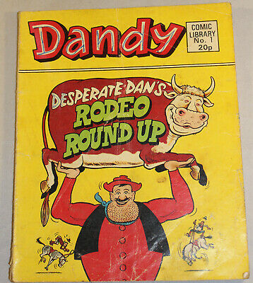 Vintage 1983 First Issue Dandy Comic Library No 1 Fair Condition