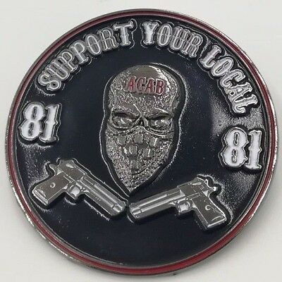 Pin Badge 81 Support your Local Angels Hells Riders Bikers Motorcycle MC Club 1%