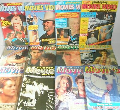 12 Photoplay magazine 1985 film monthly Complete Year GIBSON/EASTWOOD/STREEP
