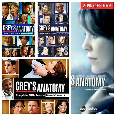 Greys Anatomy Season Series 1 2 3 4 5 6 7 8 9 10+ DVD - Select a Box Set - SALE