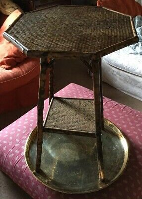 Antique Edwardian bamboo side end table