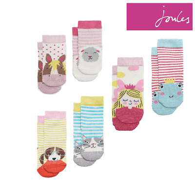 Joules Neat Feet Baby Girls Character Socks (2 Pack)