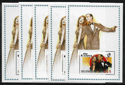 Gambia #777 MNH S/Sheet - Hayworth and Astaire - Wholesale X 5