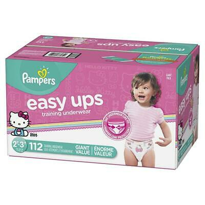 Pampers Easy Ups Pull On Disposable Training Diaper for Girls Size 4...