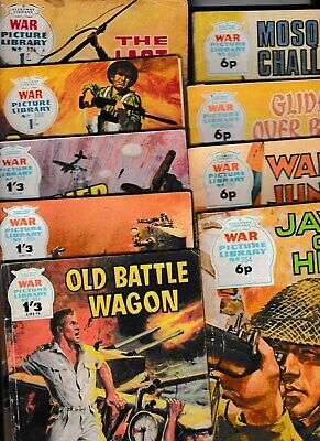 9 x WAR PICTURE LIBRARY 376, 520, 72 91 601, 91 94 702, 54 GOOD CONDITION