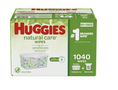 Huggies Natural Care Baby Wipe Refill, Fragrance-Free, Hypoallergenic (1,040 Ct)