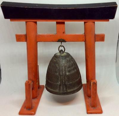 Antique Cast Bronze Buddhist Temple Meditation Lacquer pagoda stand  seremonial