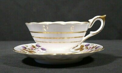 Royal Stafford GOLDEN BRAMBLE PATTERN Fine Bone China Tea Cup & Saucer