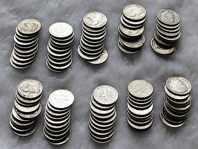 Silver dimes $1 face value Lot of 90% Silver dimes Mercury Roosevelt