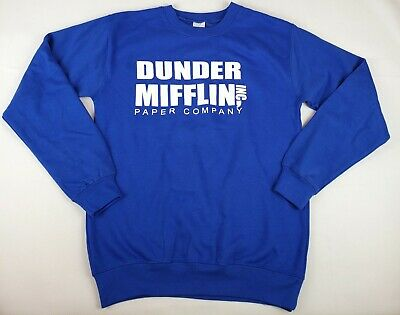 Dunder Mifflin Mens Long Sleeve T Shirt Funny The Office Gift, Novelty Small