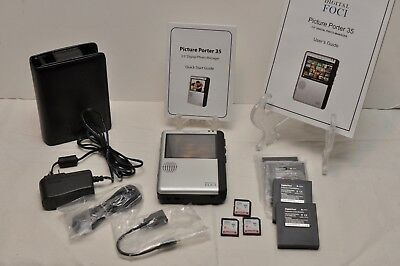 DIGITAL FOCI Picture Porter 35 PPR-350 w/ Case Manuals SD Cards Extra Batteries