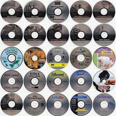 Choose 64 from 150 Productivity Titles (Under $1.00 ea) w/FREE 64 CD/DVD Wallet!