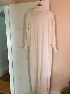 bb216917f62 Vintage David Brown California for I Magnin Full Length White Robe Sz. L