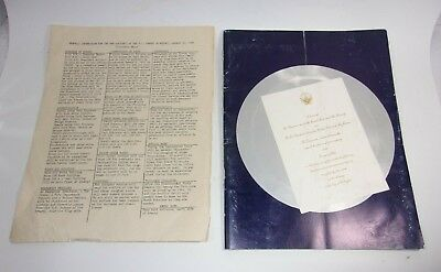 1961 Inaugural Gala Program The Armory John F Kennedy Lyndon Johnson     T*