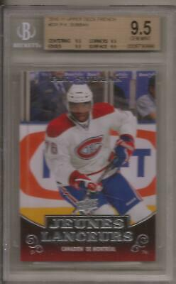 P.K. SUBBAN 2010-11 Upper Deck Series 1 French Young Guns Rookie Graded BGS 9.5