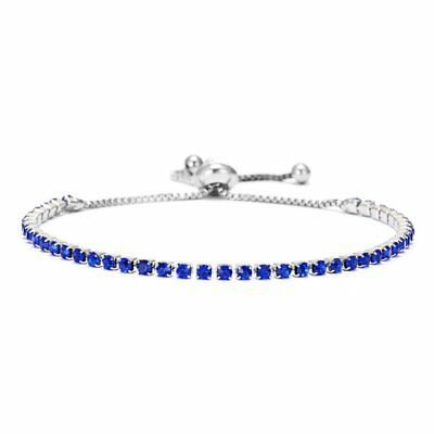 Women Adjustable Bracelet Rhinestone Crystal CZ Cuff Bangle Fashion Jewelry Gift