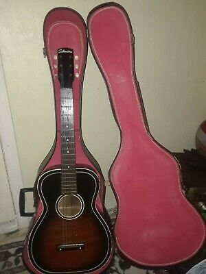 Vintage Silvertone Acoustic Guitar and case