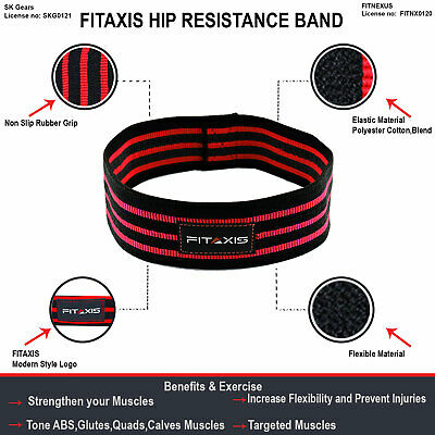 Hip Resistance Bands Expanders Legs Glute Booty Rotation Thrust Gym Exercise A+