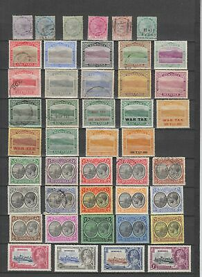 Dominica 1877 - 1935 collection, 44 stamps. MH or fine used