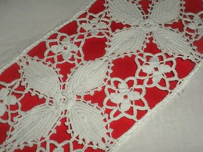 Vintage Handmade  Crochet Lace Pillowcase