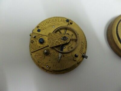 Antique Victorian Fusee Pocket Watch Movement For Repair Elias Wolfe For Repair