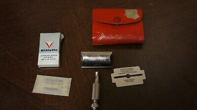 Vintage Gillette Marcas Regs Three Piece Double Edge Safety Razor