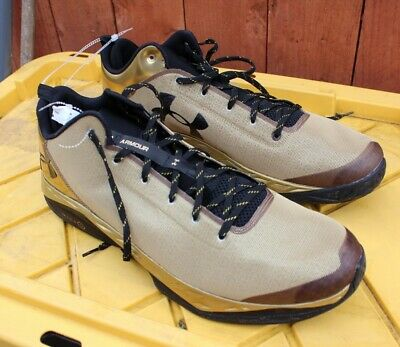 dbf54b81dbdd Under Armour Fire Shot Low Basketball Shoes Sz 18 Golden State Mens New w o