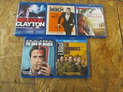5 - GEORGE CLOONEY --- BLU RAY Collection Set       (Lot 9463)