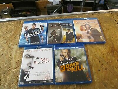 5 - KEVIN COSTNER --- BLU RAY Collection Set       (Lot 9467)