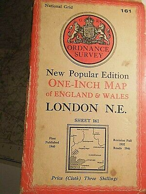 "London North East South Essex-Chelmsford: War Decade 1"" Ordnance Map 1932-40-46"
